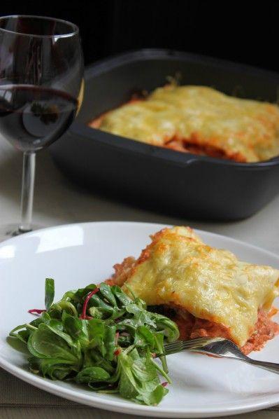 Lasagnes au chou fleur et aux tomates séchées, à la ricotta et sauce tomate (pâte à pasta Herta & Ultra Pro Tupperware) - La cuisine d'Anna ...
