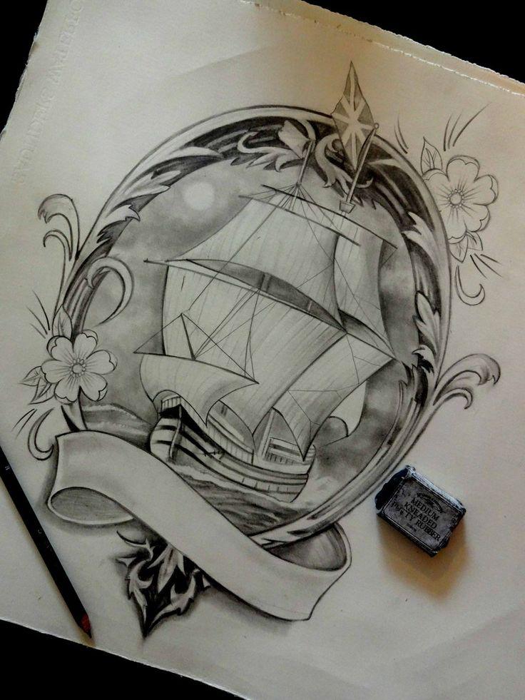 galleon by hansvictor on deviantart tattoo pinterest art and deviantart. Black Bedroom Furniture Sets. Home Design Ideas