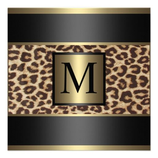 Leopard Wedding Personalized Announcements