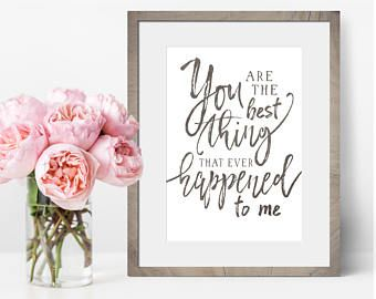 Wedding Song Lyric Art - Gift For Wife - Anniversary Gifts For Wife - Paper Anniversary Gift For Her - You Are The Best Thing -Bedroom Decor
