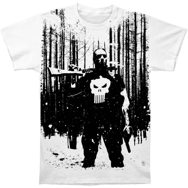 PUNISHER Blizzard Slim Fit T-shirt #punisher #comics #comicbooks #superhero #marvel #merchandise #licensedmerchandise #rockabilia #tshirt #slimfit #pinoftheday