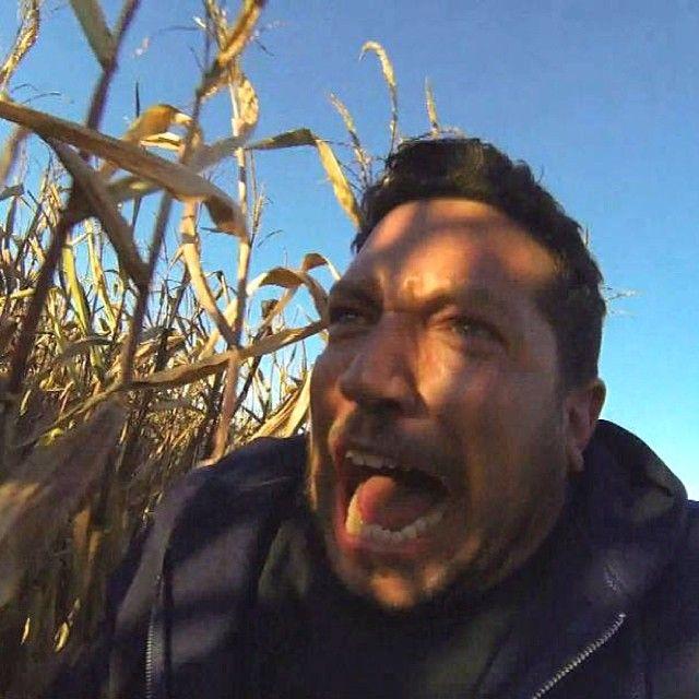 Sal running through the corn maze. My favorite Jokers punishment so far!