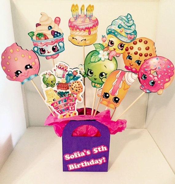 Shopkins Party Decoration Centerpiece Personalized!