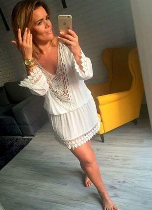 Kaufe meinen Artikel bei #Kleiderkreisel http://www.kleiderkreisel.de/damenmode/hakelkleider/129458286-bsommer-minikleid-fischer-hemd-bluse-tunika-spitze-ein-traum-l-xl