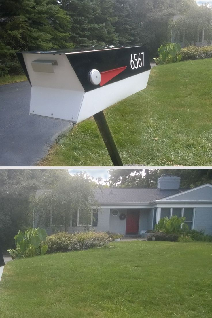 Find This Pin And More On Midcentury Modern Mailbox