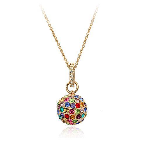 Горячая распродажа австрийский хрустальный шар очарование кулон ожерелья, мода одежды ювелирных изделий necaklce