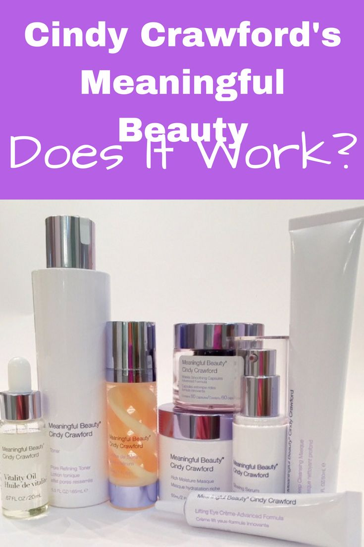 Review of Cindy Crawford Meaningful Beauty Skincare - antiaging over 40