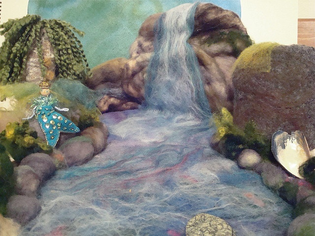 needle felted fairy playscape