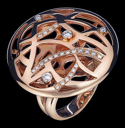 Кольца Estet (Эстет) из розового золота с бриллиантами