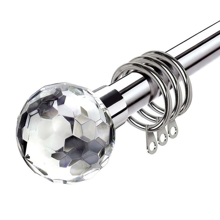 Krystal Satin Silver Dia. 16/19mm Extendable Curtain Pole | Dunelm