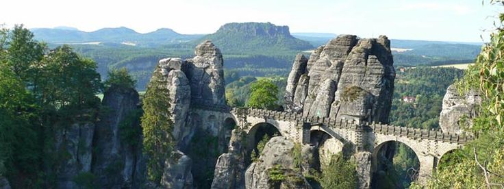 Nationalpark Sächsische Schweiz. Bei Dresden/Grenze Tschechien