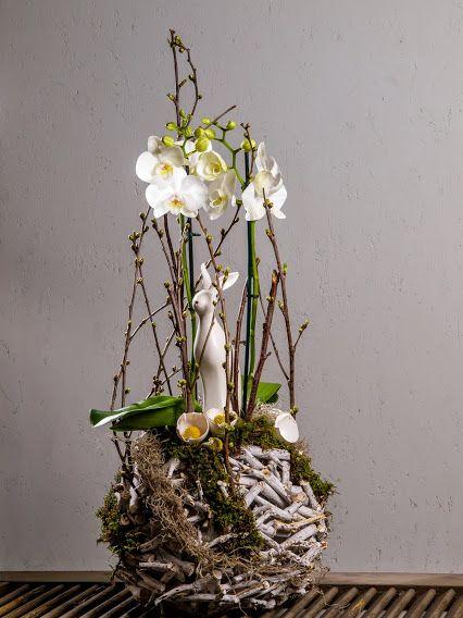 Die Hasen müssen sich bei diesen kalten, widrigen Bedingungen ganz ordentlich durchschlagen. Aber die schaffen das!!! Äußere Umstände können inneres Glühen nie auslöschen.  #Osterdeko #Orchidee #Pflanzung VALENTINO #Floristik #Entschlossenheit  EBK-Blumenmönche Blumenhaus – Google+