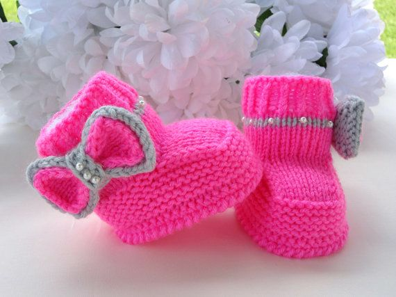 Baby Boots Knit on Etsy, USD5.50 Maybe Baby! Pinterest Knitted baby, Knit...