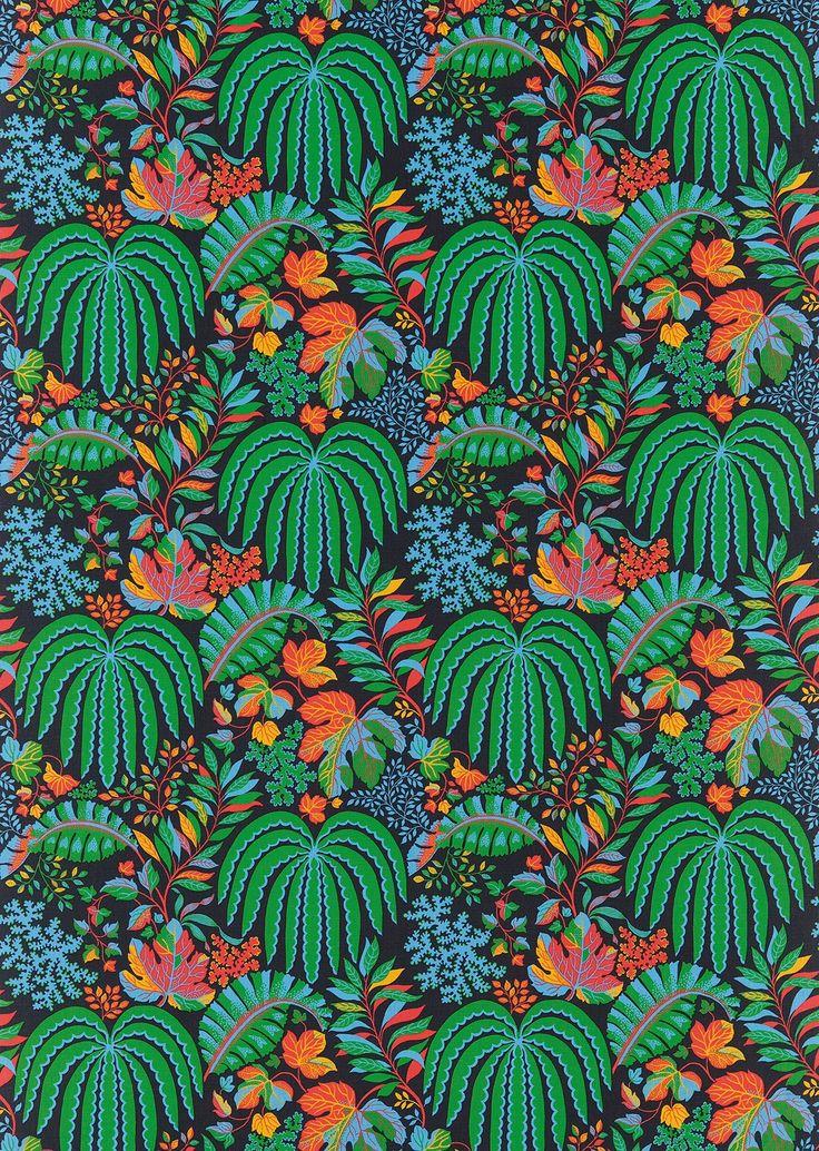 Rainforest By Sanderson Wallpaper Direct Natur Tapeter Stof