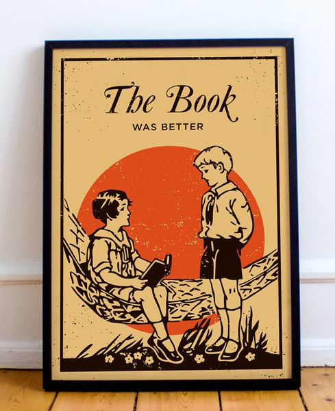 The Book Was Better print Bright print inspired by the children books of the 1930s!