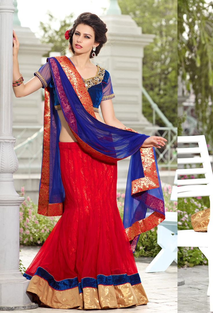 #Maroon #Net #Lehenga #Style #Saree #nikvik  #usa #designer #australia #canada #freeshipping #fashion #dress #sarees #sale