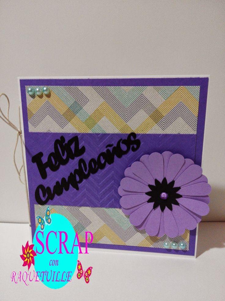 Scrap con Raquetuille: Más tarjetas de cumpleaños