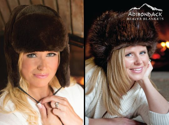 Beaver Fur Hats - Women & Men Fur Hat Sheared/Full Fur for Sale