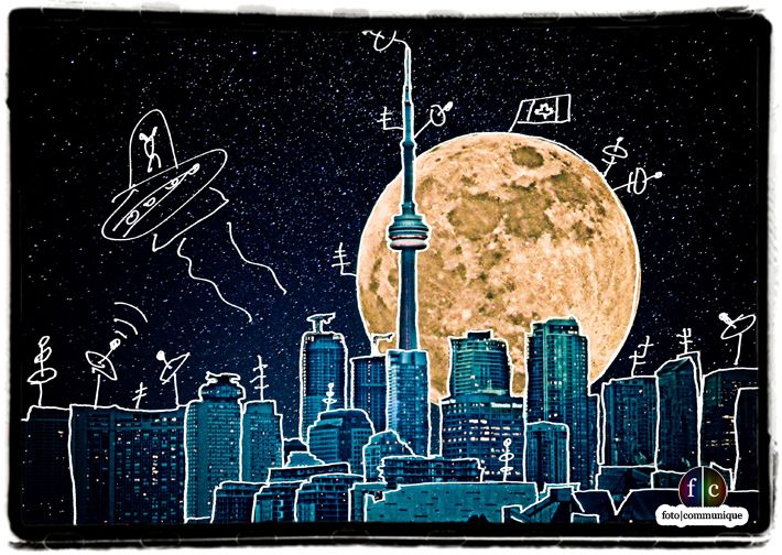 Over the moon in Toronto. Buy me a spaceship and fly past the sky.