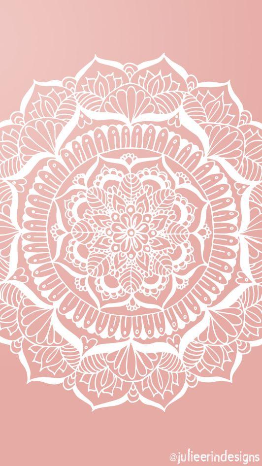 Free phone wallpaper rose gold mandala