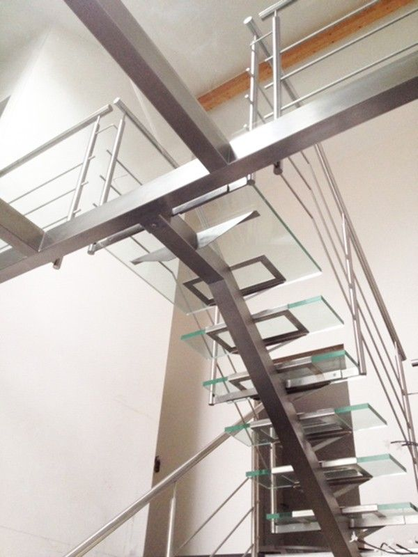 Escalier Metal Verre Escalier Pinterest