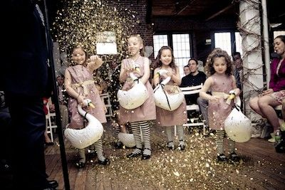 Glitter girls instead of flower girls. THIS. IS. GENIUS.