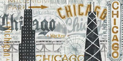 Michael Mullan - Hey Chicago Vintage Plakát na AllPosters.cz.