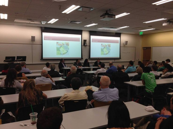 We had a full house September 18th to listen to our expert faculty panel on the current situation in the Middle East! Thanks to Drs. Jenna Jordan, Miki Fabry,Lawrence Rubin and Stulberg for their insight on the current events in #Syria,#Iraq and #Israel/#Gaza.