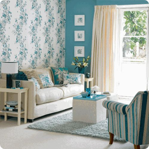 Love the wallpaper and wall color