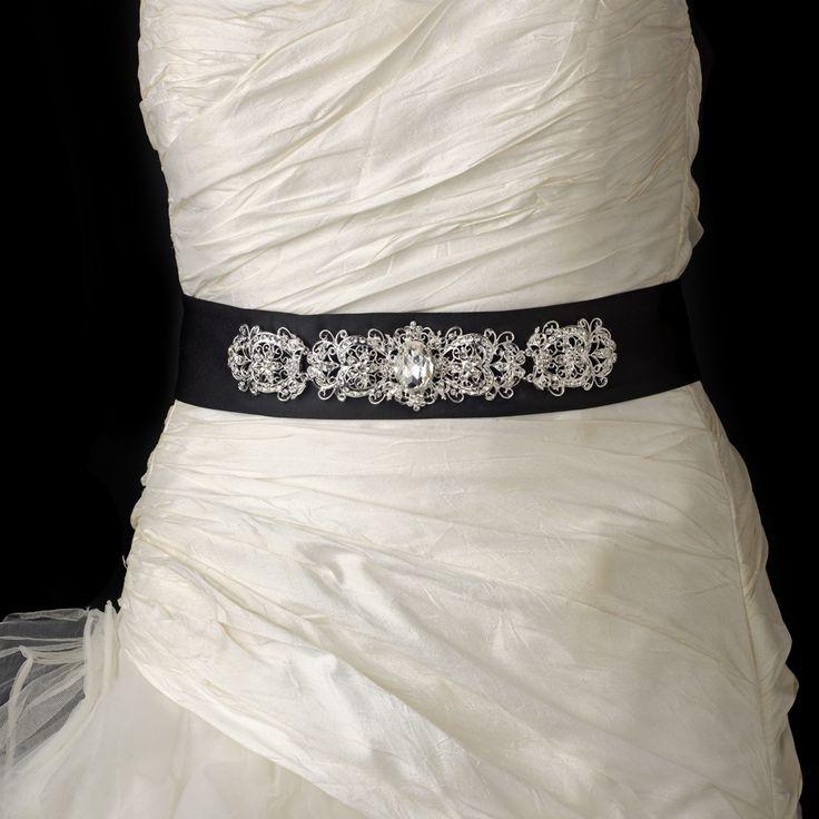 31 best Wedding Dress Belts images on Pinterest | Short wedding ...