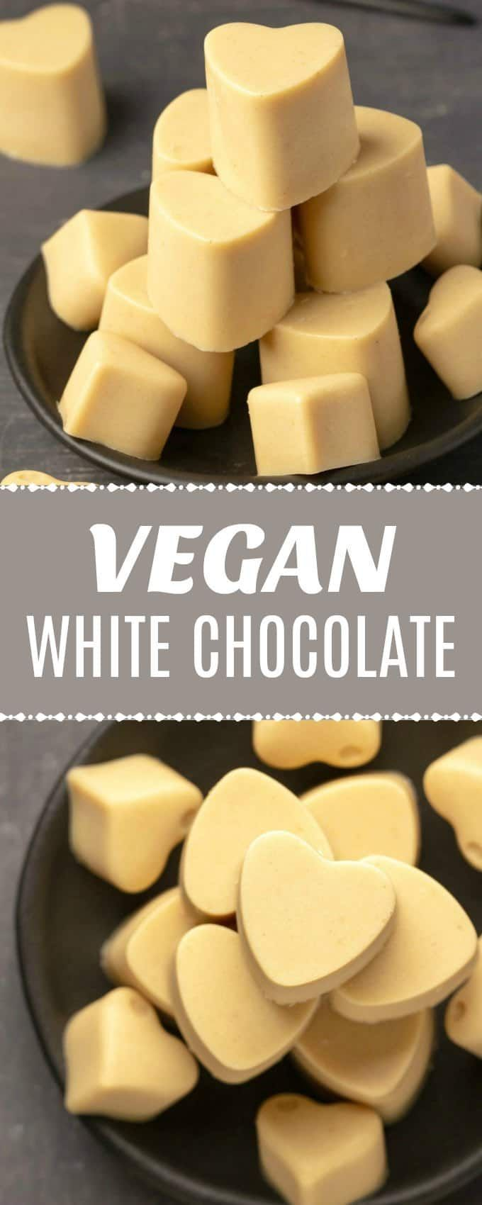 This Vegan White Chocolate Is So Smooth And Creamy You Ll Totally Fall In Love With It With Only 6 Vegan White Chocolate Vegan Chocolate Recipes Vegan Candies