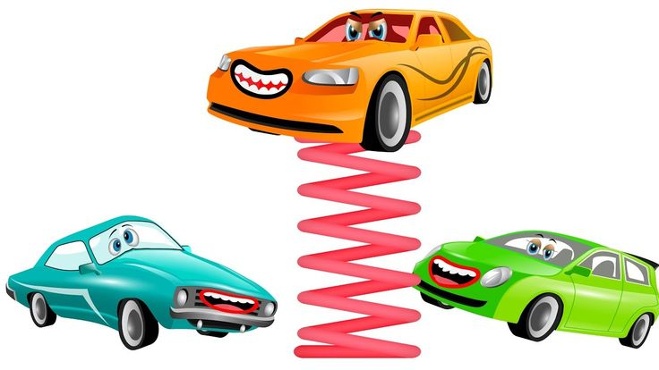 POB KIDS : Funny cartoon car in the playground, Car animation stories vi...