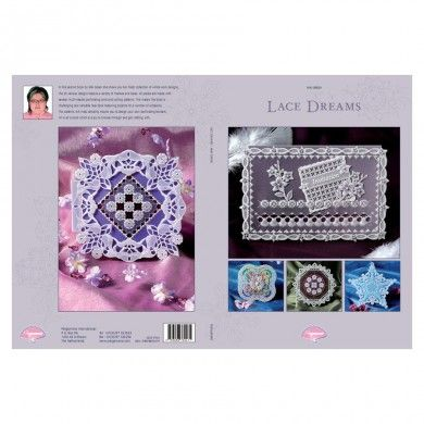 Pergamano Book Lace Dreams - ONLY £15.99 In her second book, Miki Green shows you her collection of prettiest lace designs. The 23 various designs contain many different themes and ideas. All projects are designed with the help of different multi needle tools and cutting patterns.    This makes it a challenging and diverse lace book with projects for all kinds of occasions.