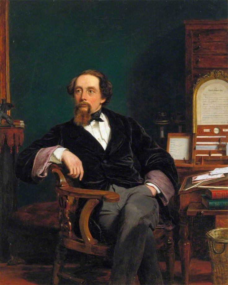 1859 William Powell Frith - Charles Dickens in His Study