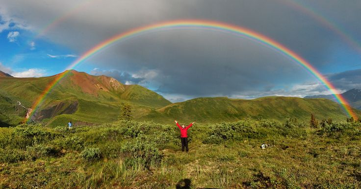 badass double rainbowMaya Angelou, Colors, Double Rainbows, Alaska, Google Search, Rainbows Wallpapers, National Parks, God Promis, Water Droplets