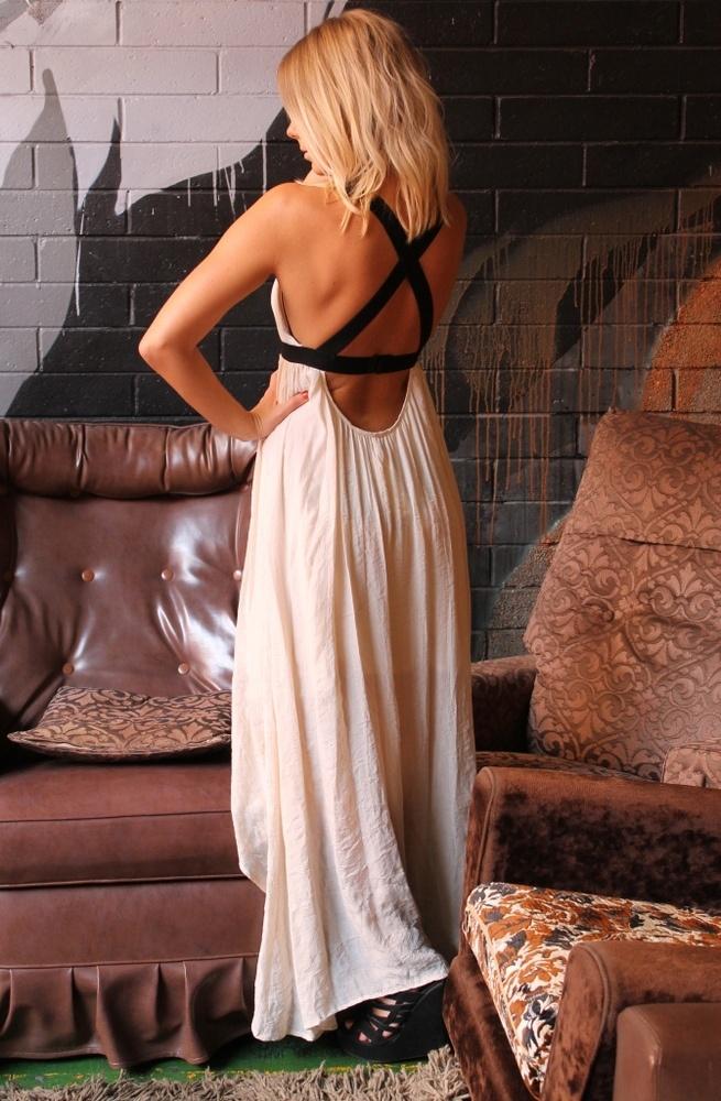 nude and black. gorgeous  greek goddess: Long Dresses, Summer Dresses, Maxi Dresses, Dreams Closet, Style, Criss Crosses, The Dresses, Open Back, Back Details