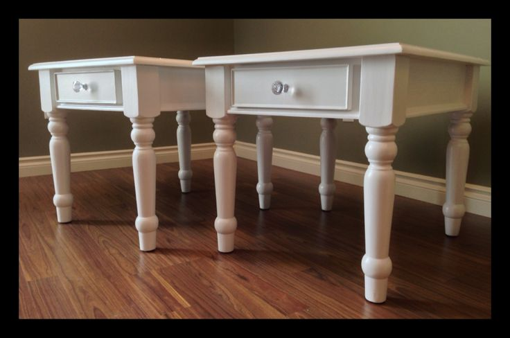 Side / Night tables | These side / night tables have been redone very carefully and will add character to any room of your home.  Width : 22"