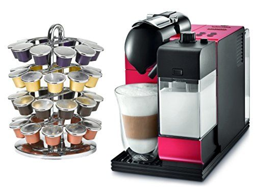 Special Offers - DeLonghi Lattissima Plus EN520R Red Nespresso Capsule Espresso and Cappuccino Machine with Bonus 40 Capsule Carousel For Sale - In stock & Free Shipping. You can save more money! Check It (November 13 2016 at 05:43AM) >> http://dripcoffeemakerusa.net/delonghi-lattissima-plus-en520r-red-nespresso-capsule-espresso-and-cappuccino-machine-with-bonus-40-capsule-carousel-for-sale/