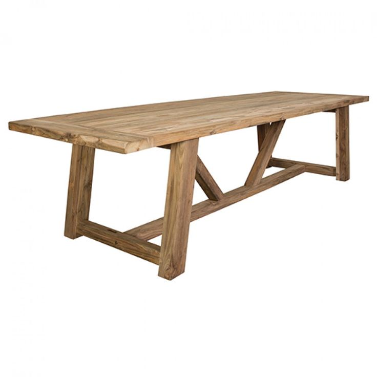 Highgate reclaimed teak table 3200 x 1000 ideas for toni for Outdoor furniture early settler
