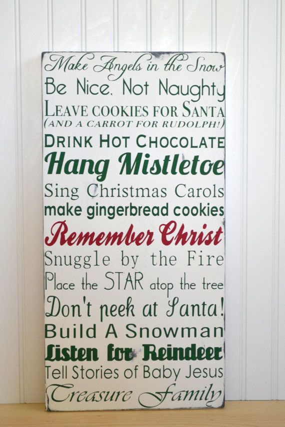 family traditions at christmas sign