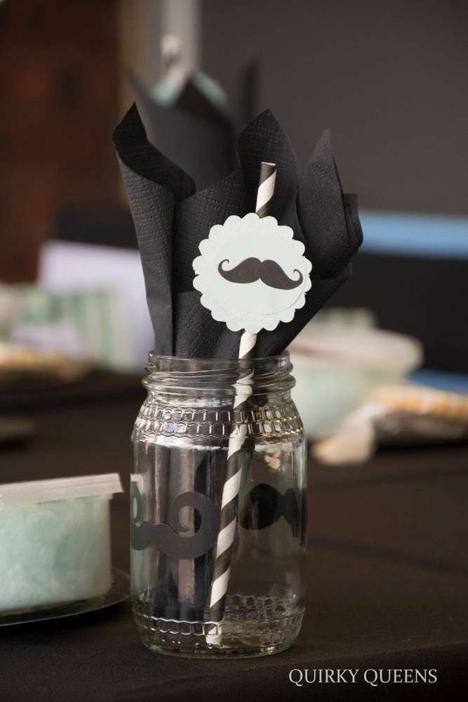 Little man mustache birthday party! See more party planning ideas at CatchMyParty.com!