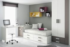 Dormitorio infantil juvenil moderno, 43-28