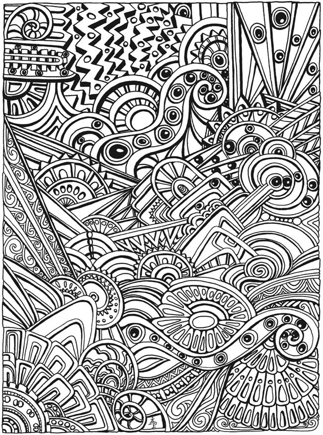 welcome to dover publications creative haven entangled coloring book abstract - Detailed Coloring Pages 2