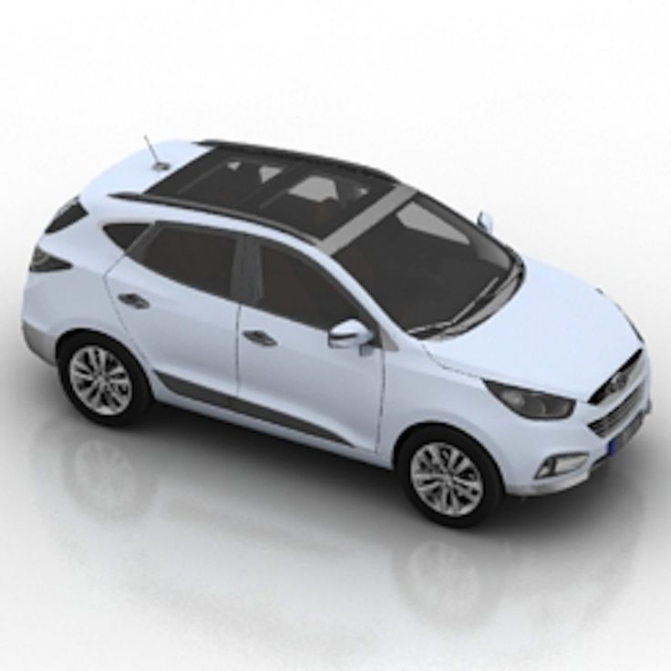 Hyundai ix35 car 3d model Free 3d Models Pinterest