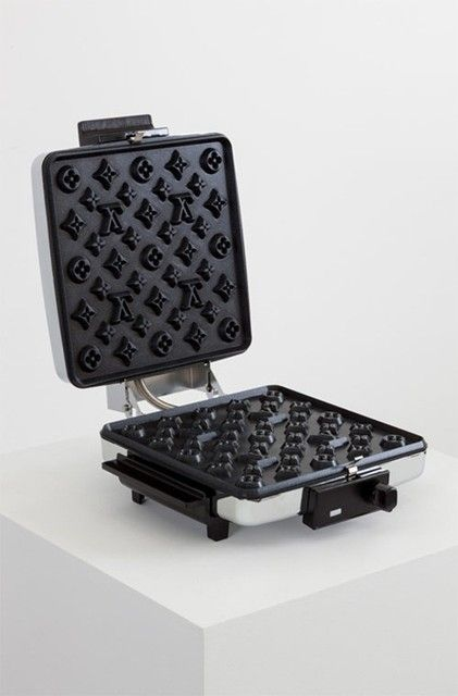 Finally, a Louis Vuitton waffle iron for the monogram-obsessed fashionista in your