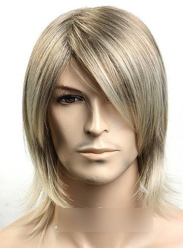 Sogood Fashion Golden Cool Oblique Bangs Men's Wigs Short Wigs Middle Age Wigs Lace Wigs Hair Wigs by Sogood. Save 56 Off!. $25.99. Length :medium. Color : As the picture ,Color Shown: (Color may vary by monitor.). Package:1 PCS. Hair Style: Super natural wig. Material : High temperature wire. Brand: SoGood Recommended features: 1. Super natural wig , suitable for almost every lady aged from teenagers to adults. 2. With the high technology, Miss Beauty wig series are quite soft and...