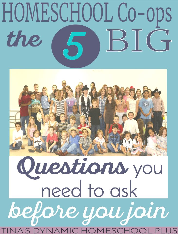 Homeschool Co-op The 5 BIG Questions You Need to Ask (before you join) @ Tina's Dynamic Homeschool Plus