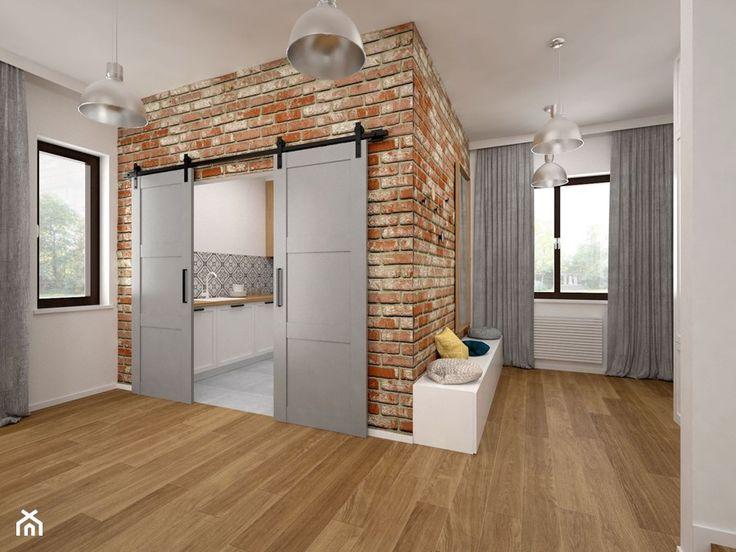Mieszkanie - 85 m2 - Średni hol / przedpokój, styl skandynawski - zdjęcie od BIG IDEA studio projektowe