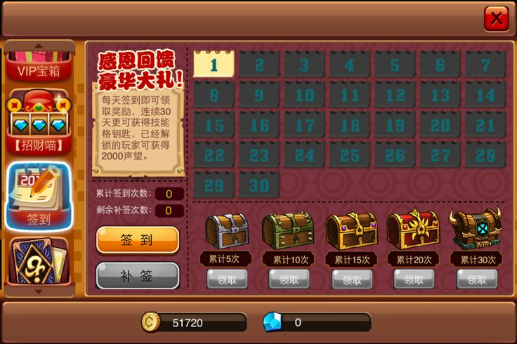daily bonus(accumulated)