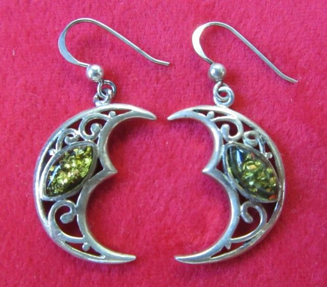 29 Cts Amber Silver  Earring Sheppard Hook  AGR688  AMBER EARRINGS GEMSTONE SET JEWELLERY AT GEMROCKAUCTIONS